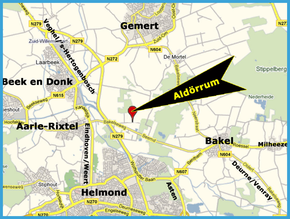 Aldörrum ׀ Plan your own route ANWB routeplanner to Aldörrum Logementen-B&B in Aarle-Rixtel with private transport.